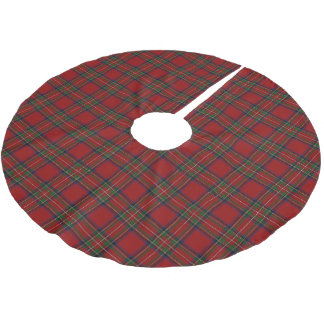 Scottish Clan Stewart Tartan Brushed Polyester Tree Skirt