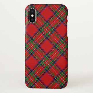 Scottish Clan Stewart Tartan Plaid iPhone X Case