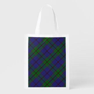 Scottish Clan Strachan Family Tartan Reusable Grocery Bags