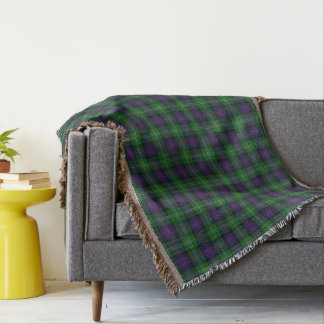 Scottish Clan Sutherland Tartan Throw Blanket