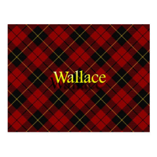 Scottish Clan Wallace Tartan Postcard