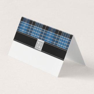 Scottish Clark Tartan Wedding Place Card