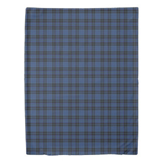 Scottish Clergy Accents Blue White Black Tartan Duvet Cover