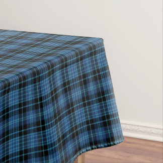 Scottish Clergy Blue and Black Tartan Tablecloth
