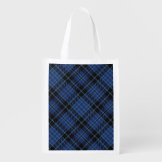 Scottish Clergy Blue and White Tartan Reusable Grocery Bag
