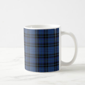 Scottish Clergy Blue Black White Tartan Plaid Coffee Mug
