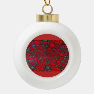 scottish coloured vortex  ceramic ball ornament