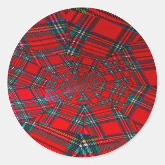 scottish coloured vortex on  Round Sticker