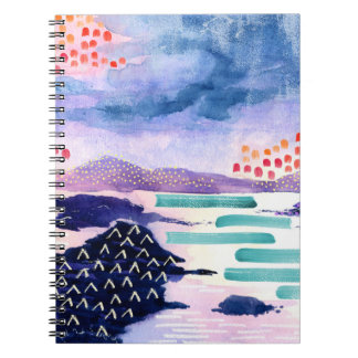 Scottish Colourful Watercolour Painting Notebook