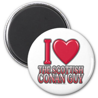 Scottish Conan Guy 2 Inch Round Magnet