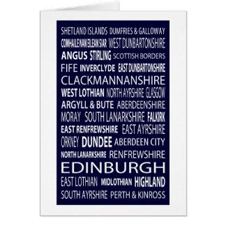 Scottish Counties Card