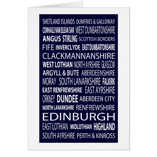 Scottish Counties Card