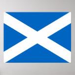 Scottish Cross Scotland Colours Poster