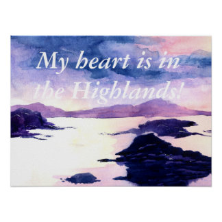 Scottish Custom Quote Watercolour Painting Poster