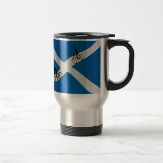 Scottish cycling travel mug