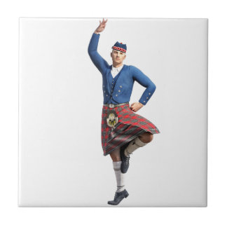 Scottish Dancer with Right Hand Up Tiles