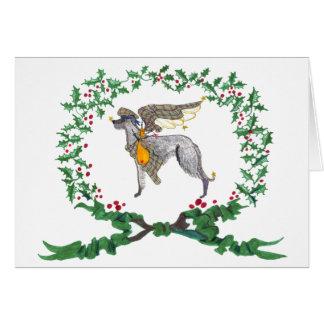 Scottish Deerhound Barking with JOY1 Card