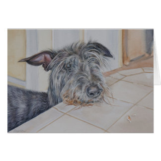 Scottish Deerhound Card