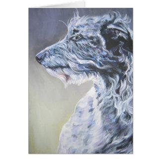 Scottish Deerhound Cristmas Card