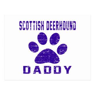 Scottish Deerhound Daddy Gifts Designs Postcard