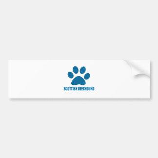 SCOTTISH DEERHOUND DOG DESIGNS BUMPER STICKER