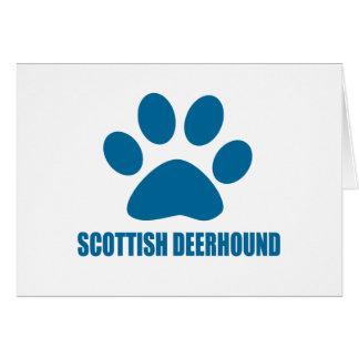SCOTTISH DEERHOUND DOG DESIGNS CARD