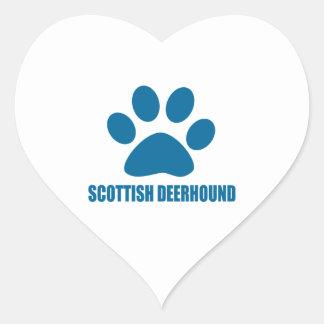 SCOTTISH DEERHOUND DOG DESIGNS HEART STICKER