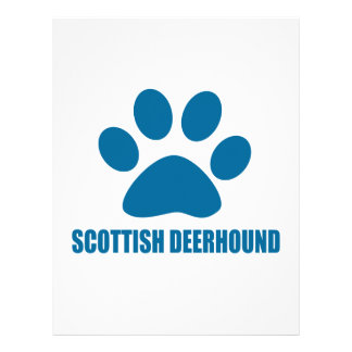SCOTTISH DEERHOUND DOG DESIGNS LETTERHEAD