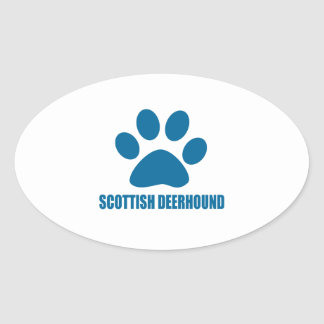 SCOTTISH DEERHOUND DOG DESIGNS OVAL STICKER