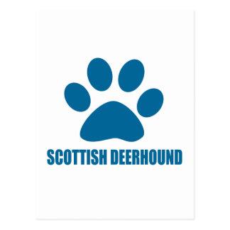SCOTTISH DEERHOUND DOG DESIGNS POSTCARD