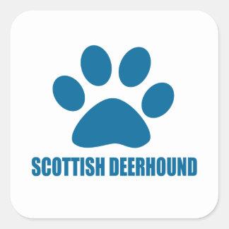 SCOTTISH DEERHOUND DOG DESIGNS SQUARE STICKER