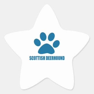 SCOTTISH DEERHOUND DOG DESIGNS STAR STICKER