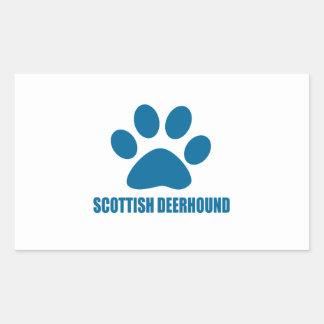 SCOTTISH DEERHOUND DOG DESIGNS STICKER