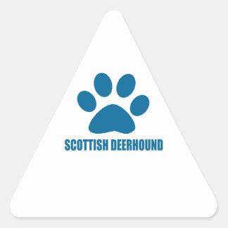SCOTTISH DEERHOUND DOG DESIGNS TRIANGLE STICKER