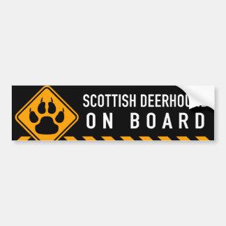 Scottish Deerhound On Board Bumper Sticker