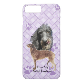 Scottish Deerhound on Lavender Weave 7+ iPhone 7 Plus Case
