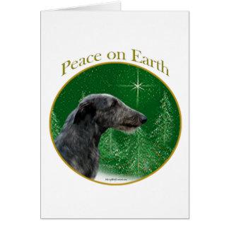 Scottish Deerhound Peace Card
