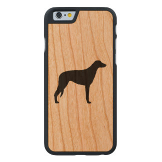 Scottish Deerhound Silhouette Carved Cherry iPhone 6 Case