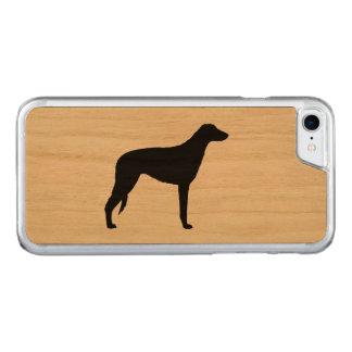 Scottish Deerhound Silhouette Carved iPhone 8/7 Case