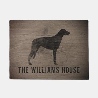 Scottish Deerhound Silhouette Personalized Doormat