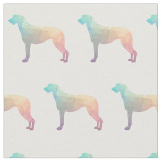 Scottish Deerhound Silhouette Tiled Fabric