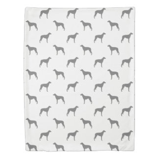 Scottish Deerhound Silhouettes Pattern Duvet Cover