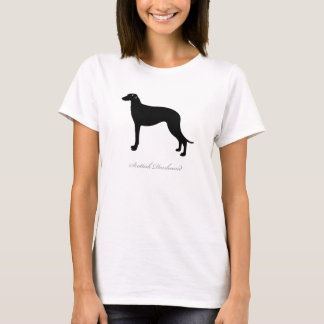 Scottish Deerhound T-shirt (black silhouette)