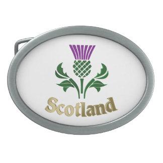 Scottish emblem thistle belt buckle