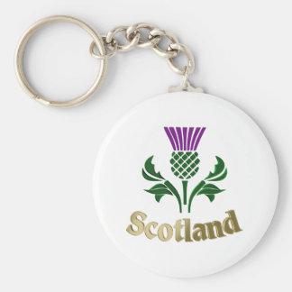 Scottish emblem thistle keychain