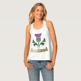Scottish emblem thistle tank top