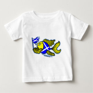Scottish Fish with Scottish Flag Patriotic Baby Baby T-Shirt