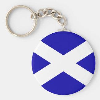 Scottish Flag Basic Round Button Keychain