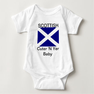 Scottish Flag Clothing Baby Bodysuit