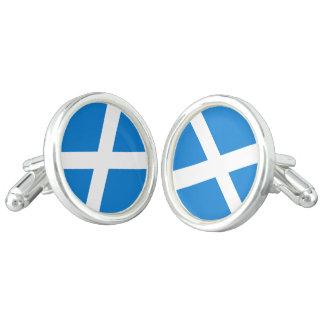 Scottish flag cuff links